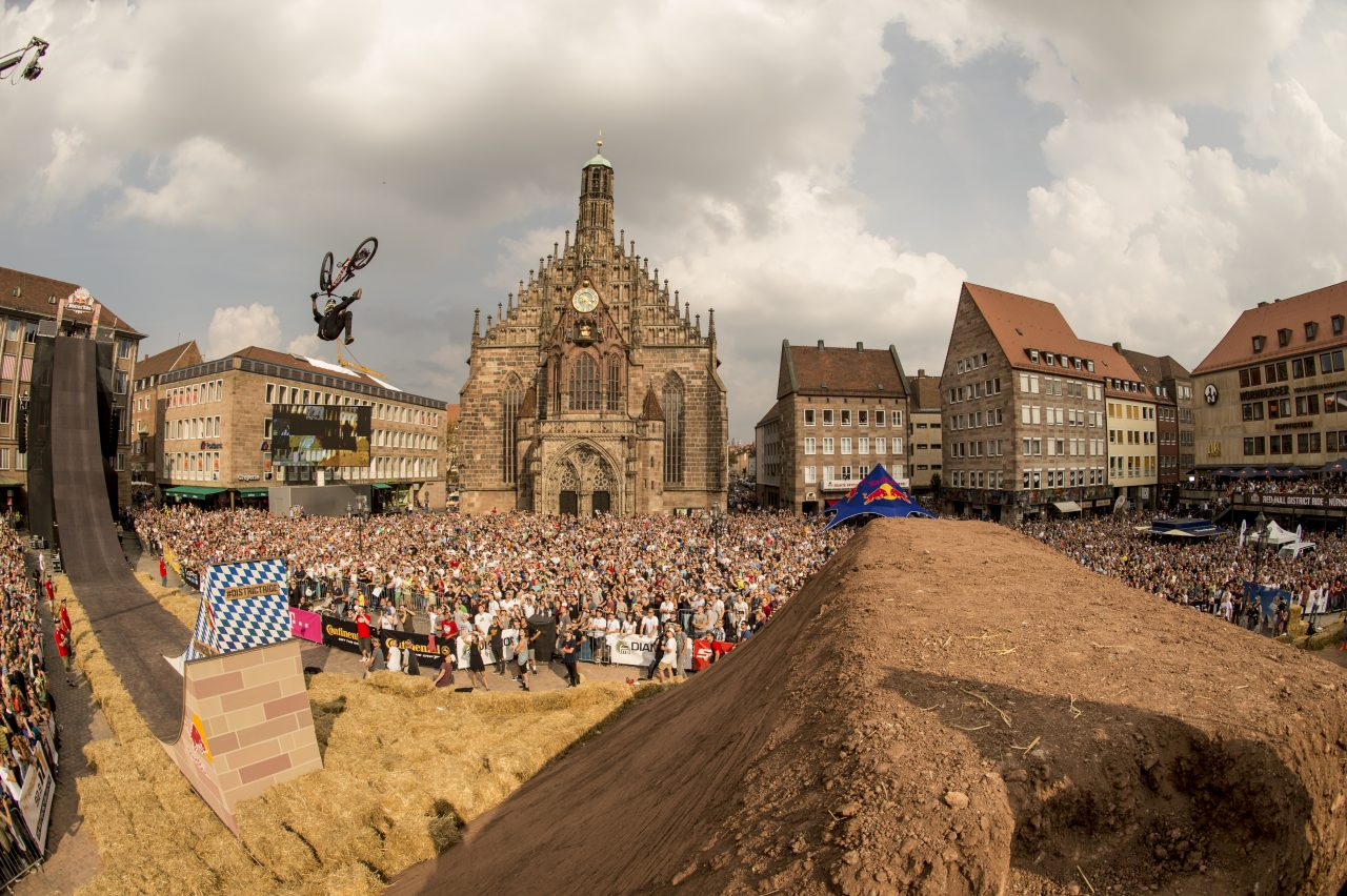 Brett Rheeder (CAN) performs during the Red Bull District Ride Finals in Nuremberg, Germany on September 06th 2014