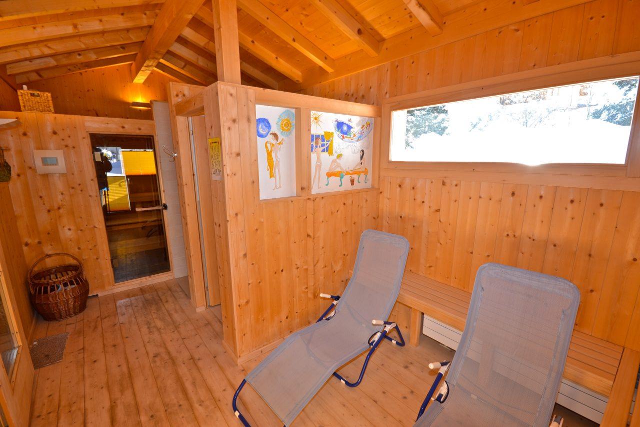 Bike Hotel Sport Lodge Klosters Sauna
