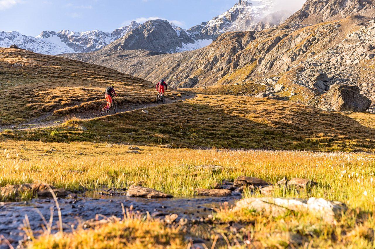 Bike Hotel Sport Lodge Klosters Trail Bergauf
