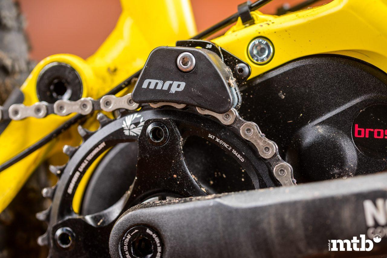 Test: Nox Hybrid 7.1 Enduro Pro E-Bike 2020 Kettenführung