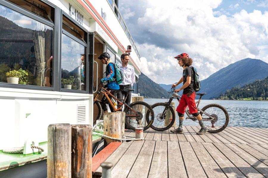 Die Flowtrails in Kärnten Schifftaxi