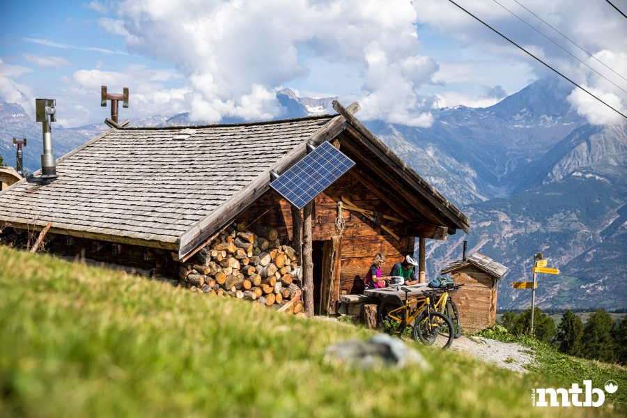 Biken im Wallis in der Moosalpregion