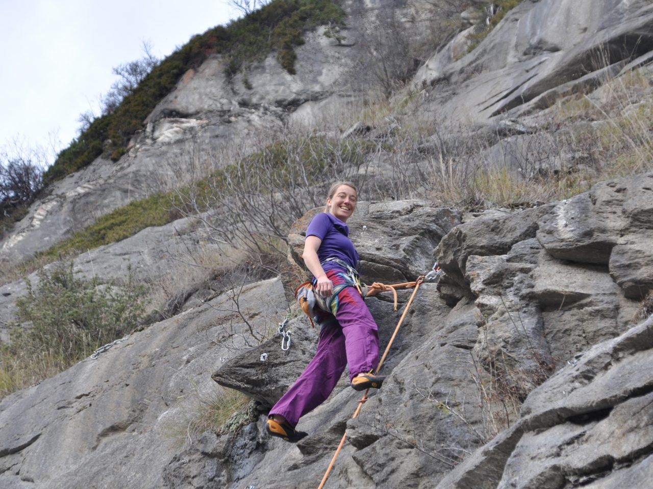 Monatsfrau Claudia Knoll Klettern